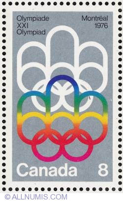 Imaginea #1 a 8¢ Symbol of the Montreal Games 1973
