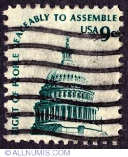 Image #1 of 9¢ Capitol dome 1975