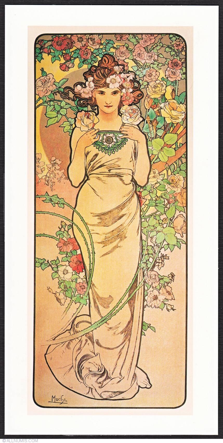 Alphonse Mucha Rose