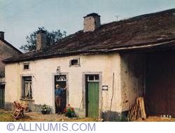 Ardennes-Old house and old man