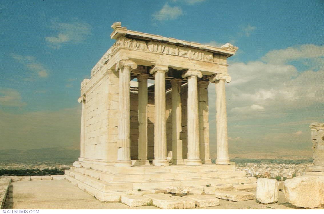 Athens-Temple of Athena Nike, Athens - Greece - Postcard ...