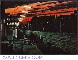 Berlin-The Wall at Linden street at night