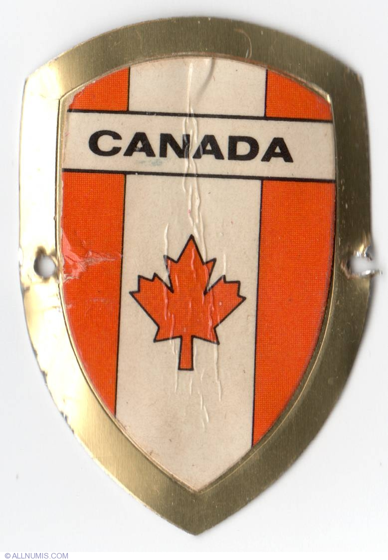 Canada 1977 Walking Stick Badges Shields Germany