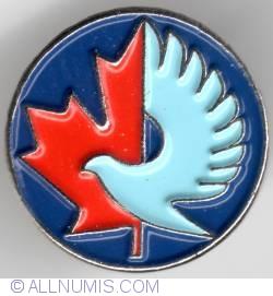 Imaginea #1 a Canada and dove, peace pin