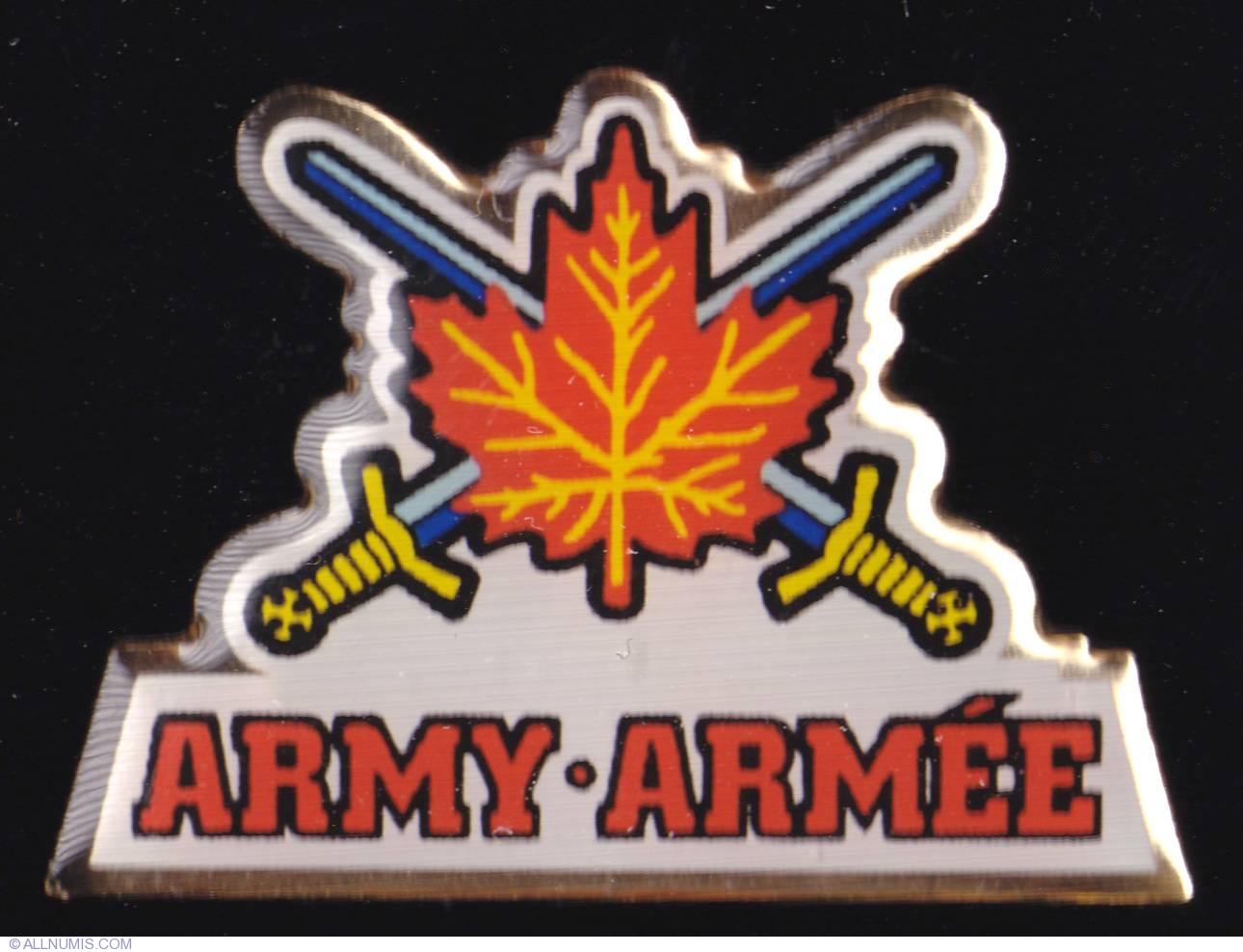 Canadian Forces Army Logo Military Army Canada Pin 4821