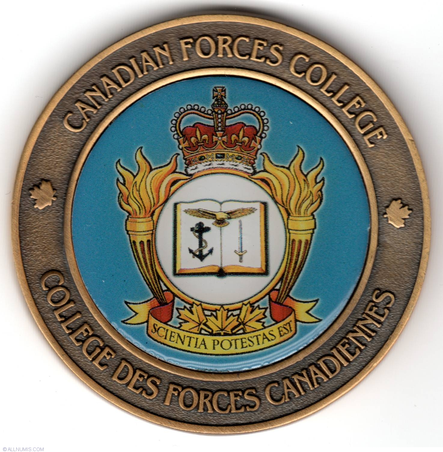 Canadian Forces College Military Challenge Coin Trade And Units