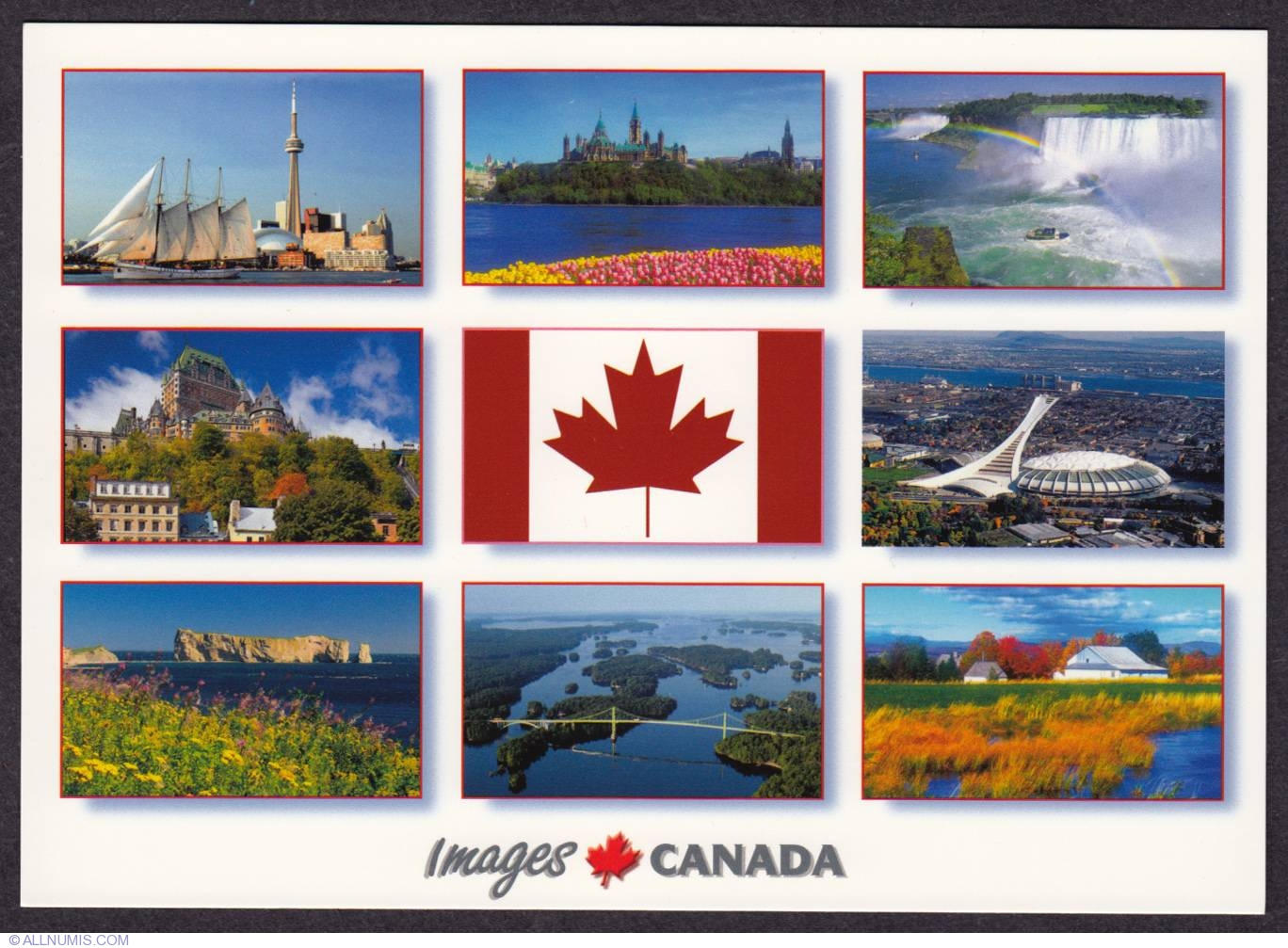 Canadian places, Overall country - Canada - Postcard - 329