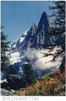 Chamonix-The Aiguille du Dru et Aiguille Verte