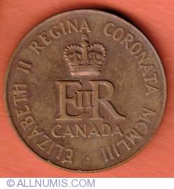 Imaginea #2 a Coronation Medal Elizabeth II of Canada