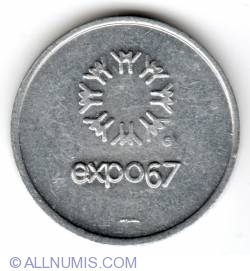 Image #1 of Expo 67 US currency exchange token