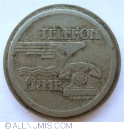 Image #2 of Hungarian telephone token (tantusz)
