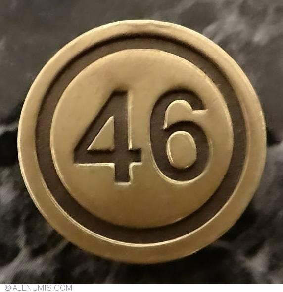 jeton loto nr 46 lottery sport bets romania token 24121. Black Bedroom Furniture Sets. Home Design Ideas