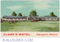 Image #1 of Newport Maine-Clark motel-1972