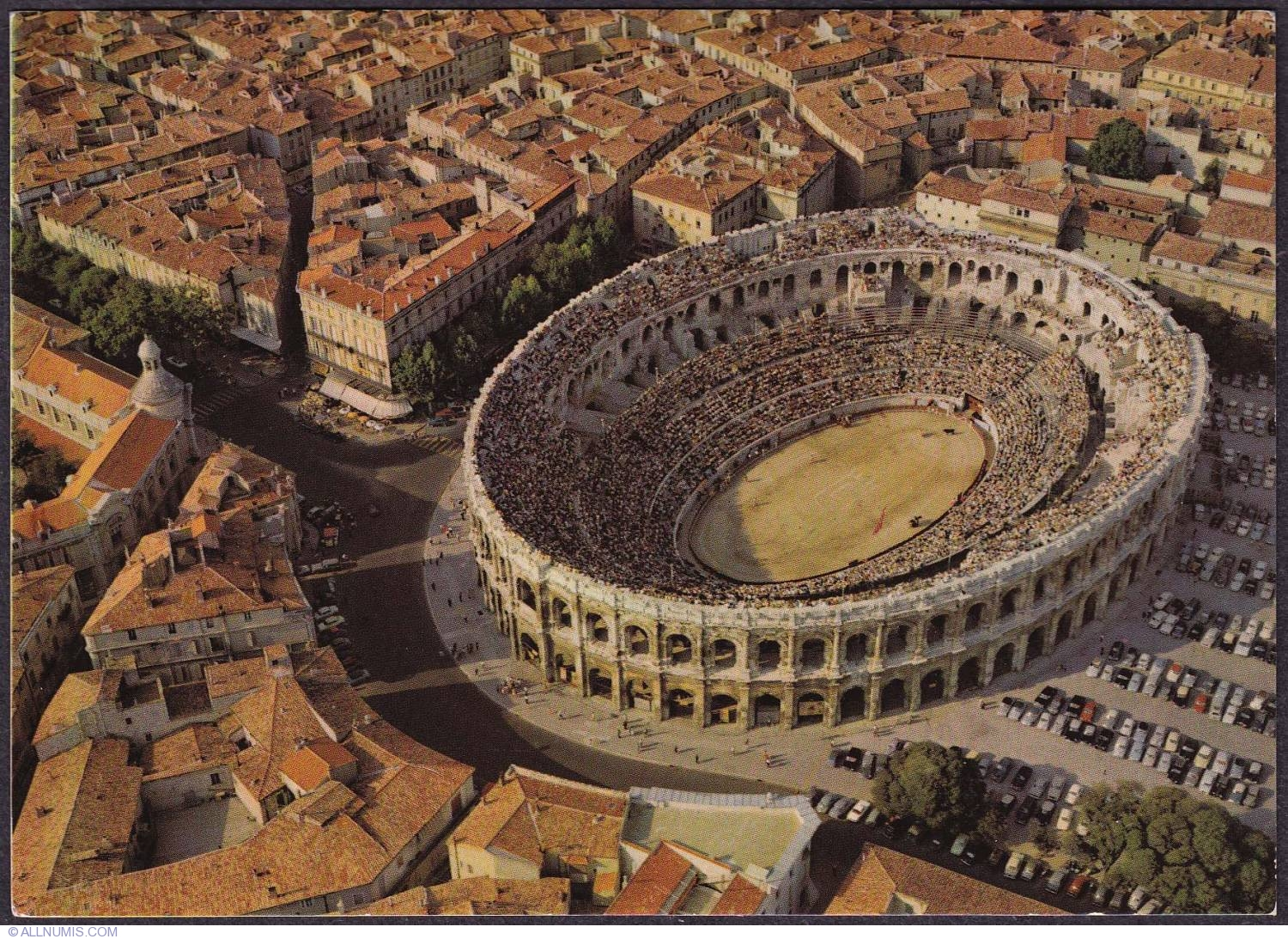 Nimes France  City pictures : Nimes Aerial View of the Arena 1973 , Nîmes France Postcard ...