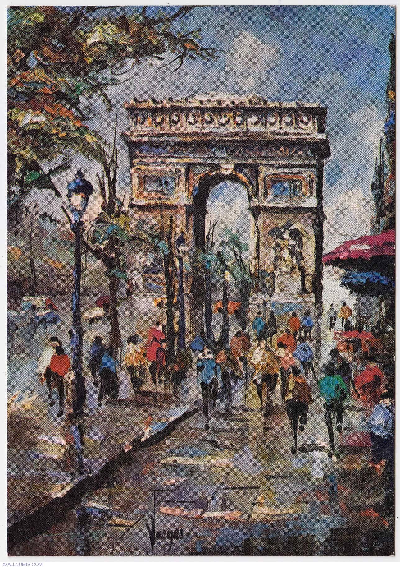 Paris Arc De Triomphe And Champs 201 Lys 233 Es Painting 1973