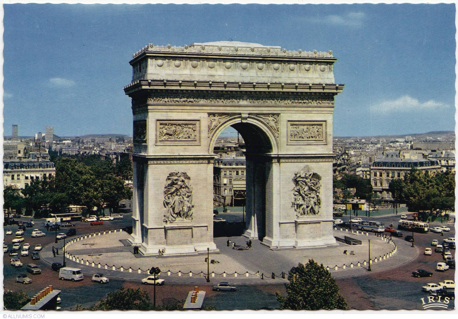 paris arc de triomphe de l 39 toile 1970 1972 paris and le de france france postcard 8020. Black Bedroom Furniture Sets. Home Design Ideas