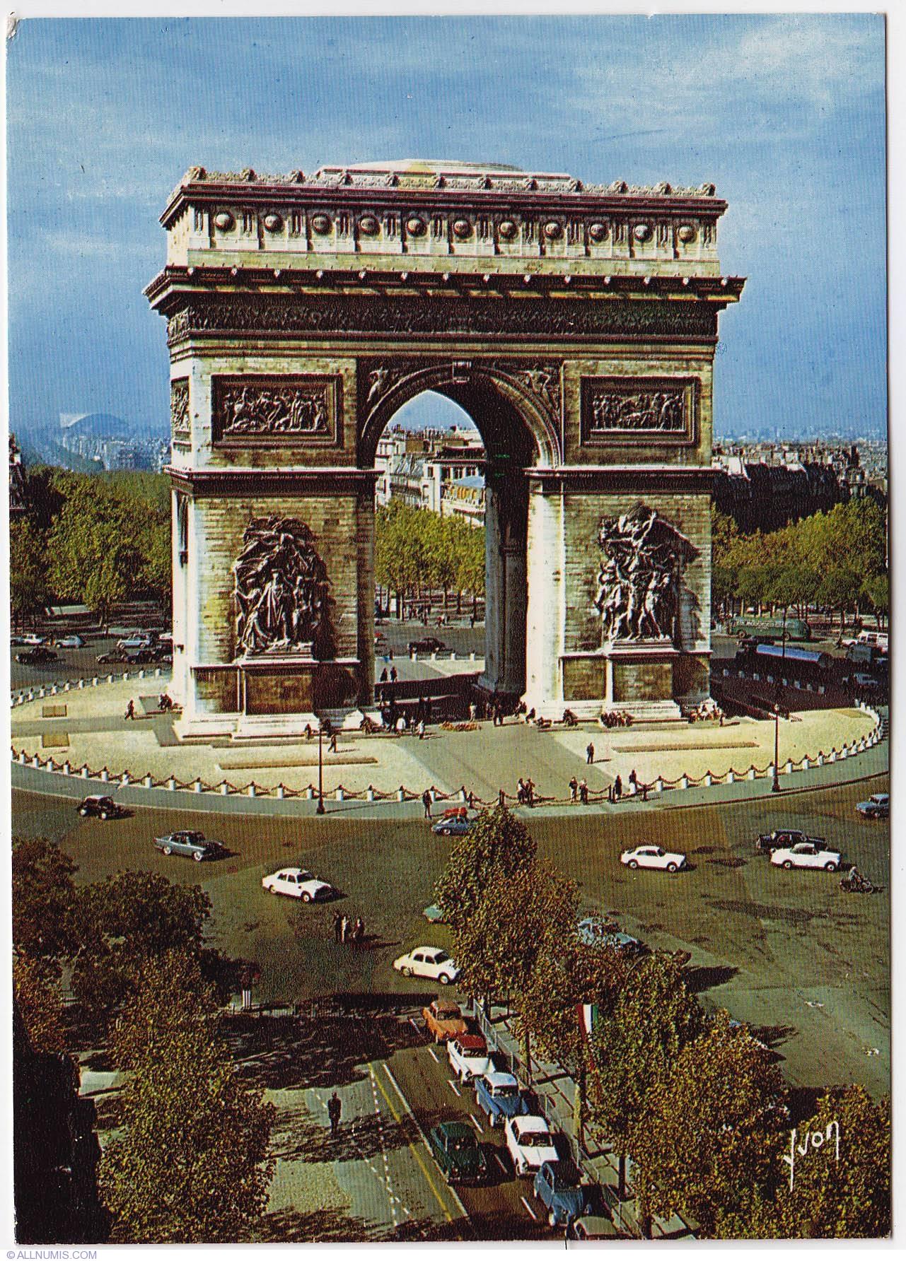 Paris - The Triumph Arch - L'Arc de Triomphe (1970), Paris ...