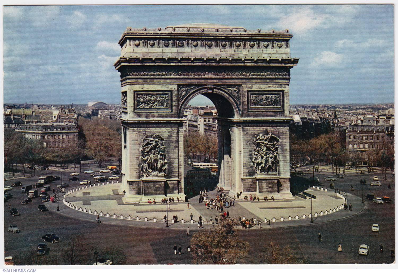 paris arc de triomphe 1973 1975 paris and le de france france postcard 2960. Black Bedroom Furniture Sets. Home Design Ideas