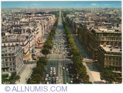 Image #1 of Perspective of the Champs-Elysees from the top of the Arc de Triomphe (Perspective des Champs-Élysées depuis le sommet de l'Arc de Triomphe) (1978)