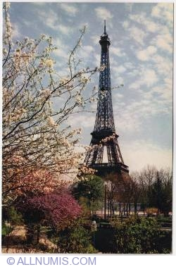 Imaginea #1 a Paris-Eiffel tower-spring-1970