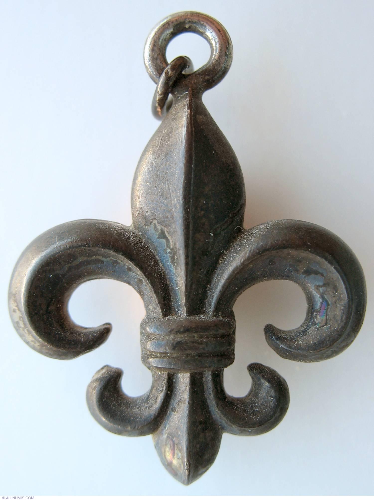 Qu bec fleur de lys emblematic symbols canada medal 2550 - Fleur de lys symbole ...