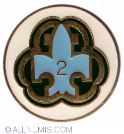 Imaginea #1 a Quebec Scout 2 years service pin
