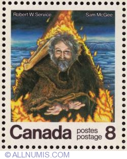 8¢ Robert W Service-Sam McGee 1976
