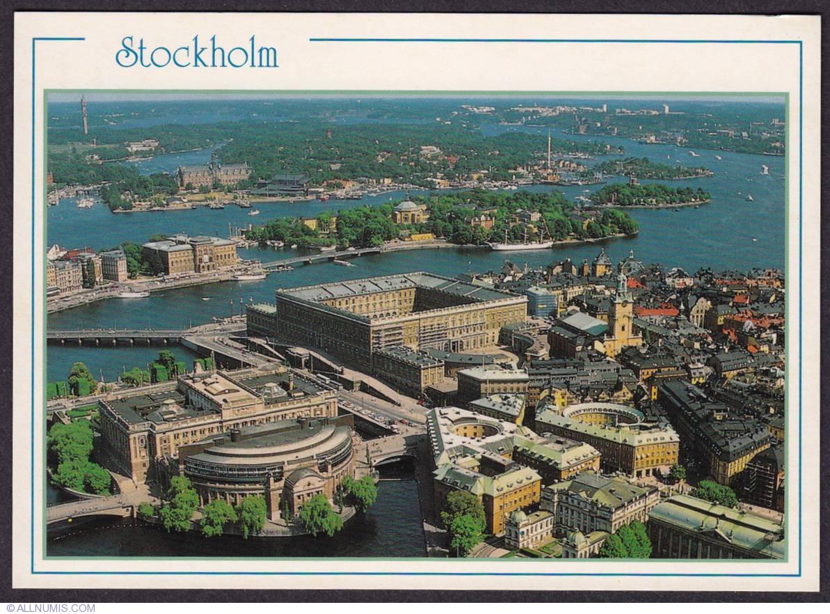 Stockholm Royal Palace Aerial View Stockholm Sweden