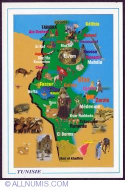 Image #1 of Tunisia - tourist map