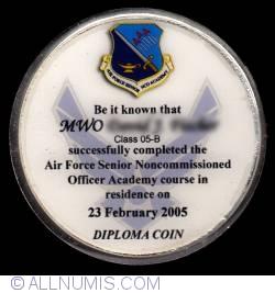 Imaginea #2 a US Air Force Senior NCO Academy diploma coins
