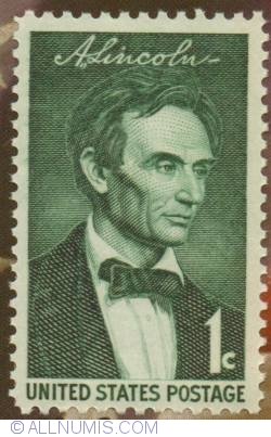 Image #1 of 1 Cent 1959 - Abraham Lincoln Tribute
