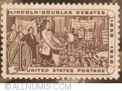 Image #1 of 4¢ Abraham Lincoln Tribute Stamp 1958