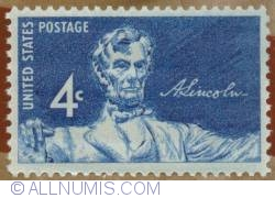 Image #1 of 4 Cents 1959 - Abraham Lincoln Tribute