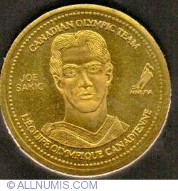 Coca Cola 2002 XIX Winter Olympic Games Ice Hockey Gold Medalist Joe Sakic Medallion