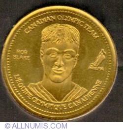 Imaginea #1 a Coca Cola 2002 XIX Winter Olympic Games Ice Hockey Gold Medalist Rob Blake Medallion