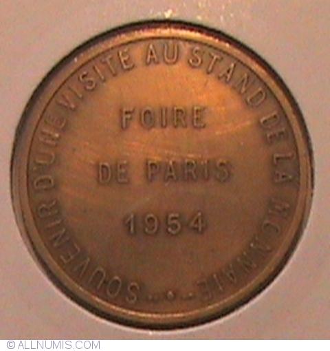 foire de paris 1954 cities france medal 32673. Black Bedroom Furniture Sets. Home Design Ideas
