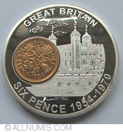 Six Pence 1954-1970 History of British Currency