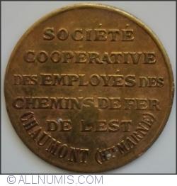 10 Centimes - Societe Cooperative des Employes des Chemins de Fer de L'Est - Chaumont