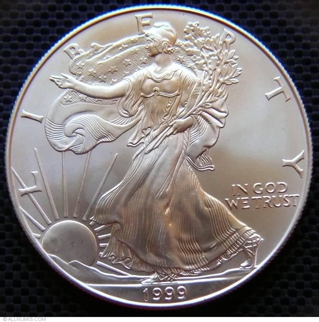 1 Dollar 1999 American Silver Eagle 1986 Present