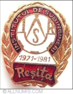 Image #1 of Institutul de Subingineri - Resita - 1971~1981
