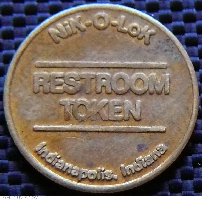 Nik O Lok Restroom Token Business Tokens United