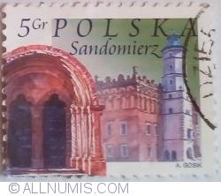 Image #1 of 5 Groszy 2004 - Primăria, arcada bisericii, Sandomierz