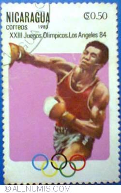 Image #1 of 0,50 Centavo 1983 - XXIII Juegos Olimpicos Los Angeles 84