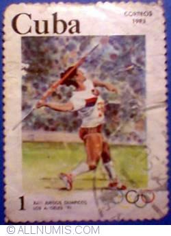 Image #1 of 1 peso 1983 - Olimpiada de vara Los Angeles 1984 - aruncarea cu sulita feminin