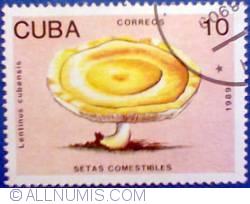 Image #1 of 10 Centavos 1989 Cuba - Lentinus cubensis - Ciuperci comestibile