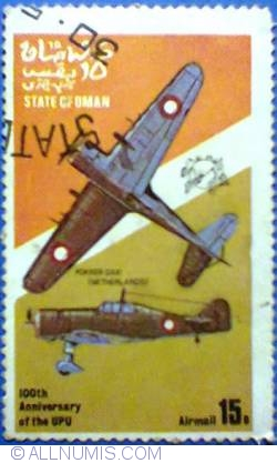 Image #1 of 15 b 1974 - 100 th Anniversary of the UPU - Fokker DXXI (Netherlands)