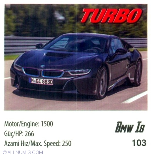 103 Bmw I8 Turbo 101 120 Serie 2014 Turbo Chewing Gum