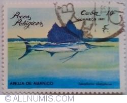 Image #1 of 10 Centavos 1981 - Peşte călător (Istiophorus platypterus)