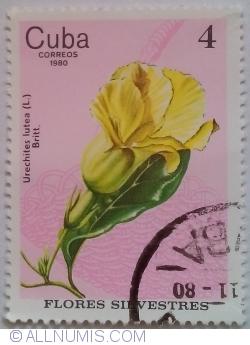 Image #1 of 4 Centavos 1980 - Urechites lutea