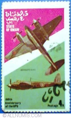 Image #1 of 4 b 1974 - 100 th Anniversary of the UPU - Mosquito (U.K.)